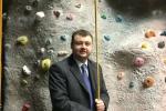 Gary Ridley explores a climbing wall at Warwick Sports