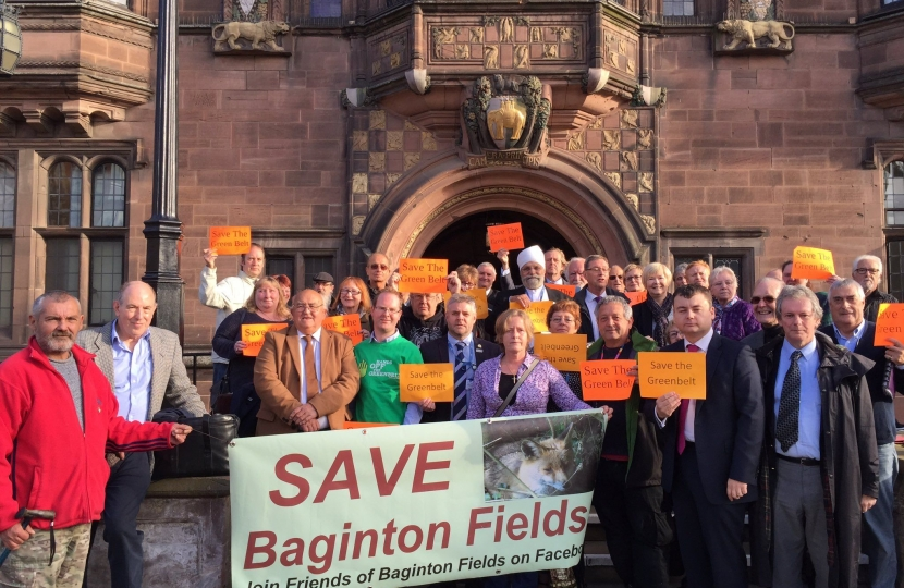 Councillor Gary Ridley with campaigners