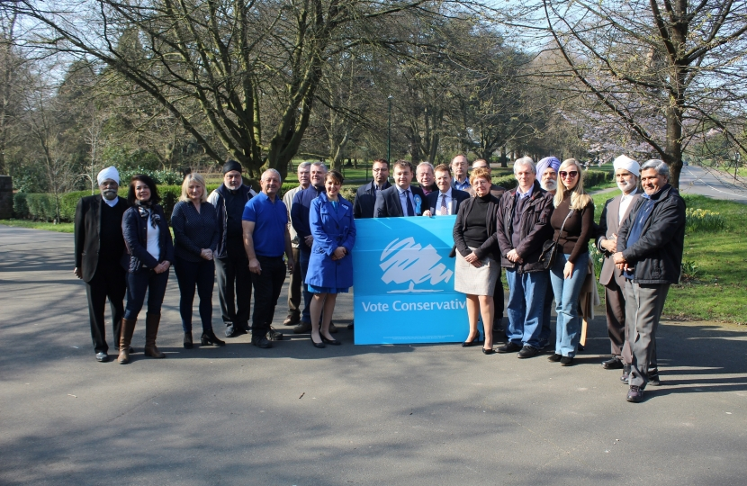 Councillors and activists join Andy Street to launch the Conservatives local election manifesto