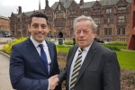 Alan East, left, with Cllr Ken Taylor OBE