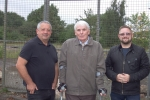 Cllr's Lapsa, Skinner and Mayer on the former Canley sports and social club Marler road