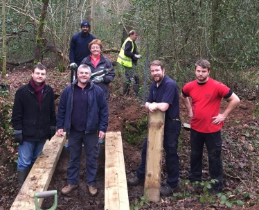 Councillors helping out in Tile HIll Wood